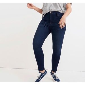 """Madewell 10"""" High Rise Skinny Jeans in Hayes Wash"""